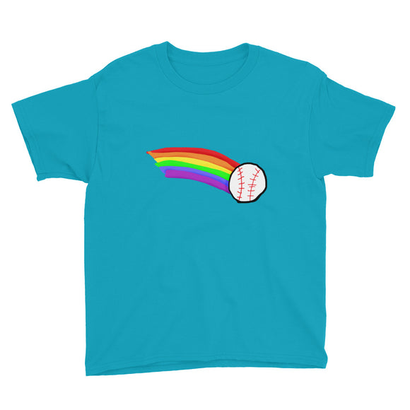 Rainbow Baseball Youth Short Sleeve T-Shirt