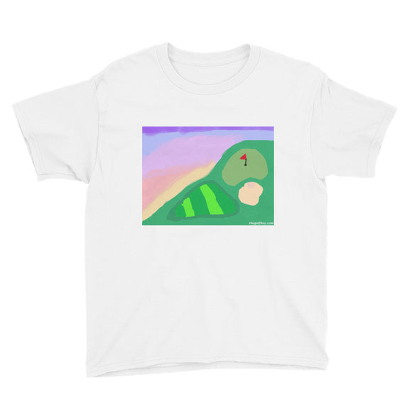 Abstract Golf Art Youth Short Sleeve T-Shirt