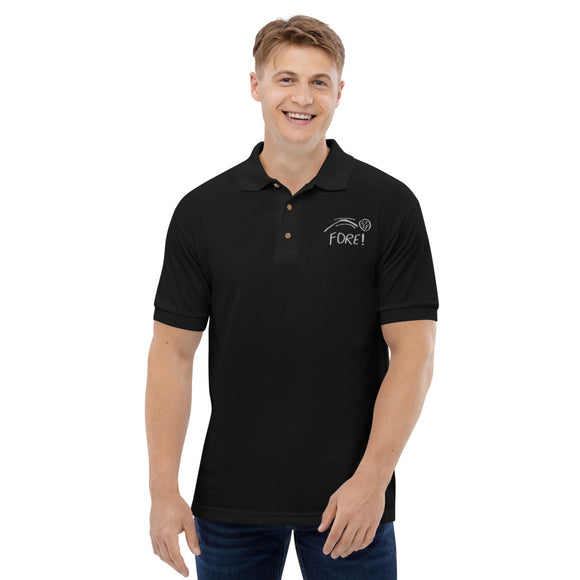 FORE! Embroidered Polo Shirt for Golf