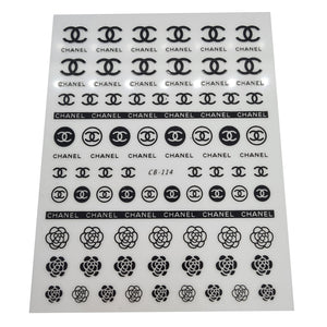 Black Chanel Nail Stickers