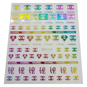 Rainbow Chanel Nail Stickers
