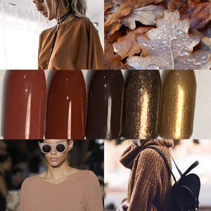 Bronzed Browns Gel Polish Colour Collection