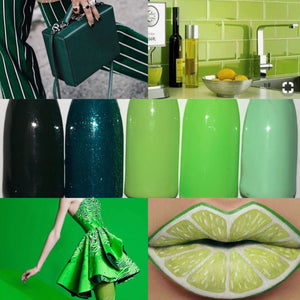 Gorgeous Greens Gel Polish Colour Collection