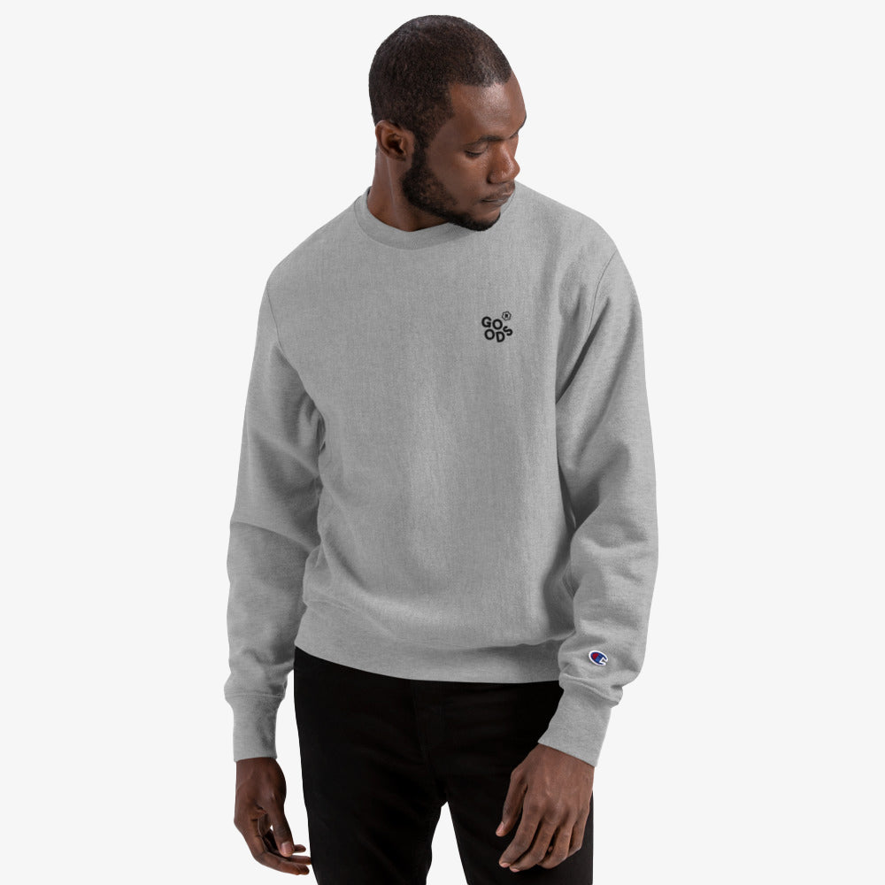 R.Goods x Champion Crew Sweatshirt - Oxford Grey