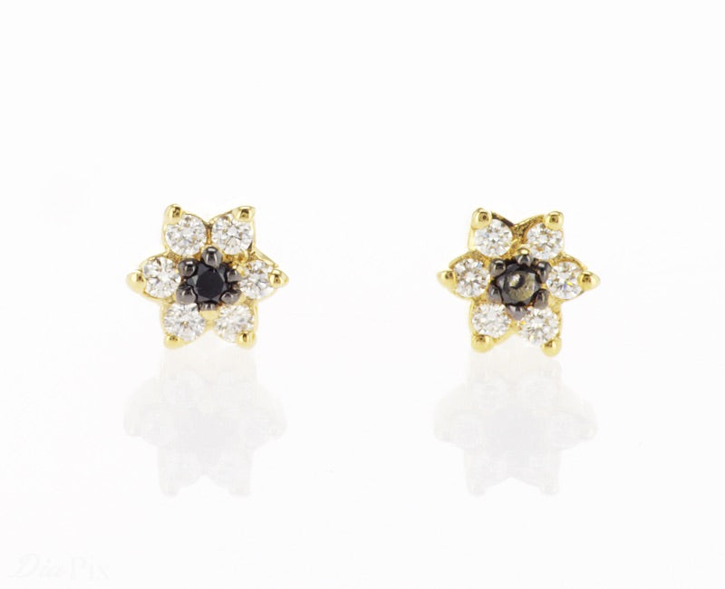 Star Earring yellow gold