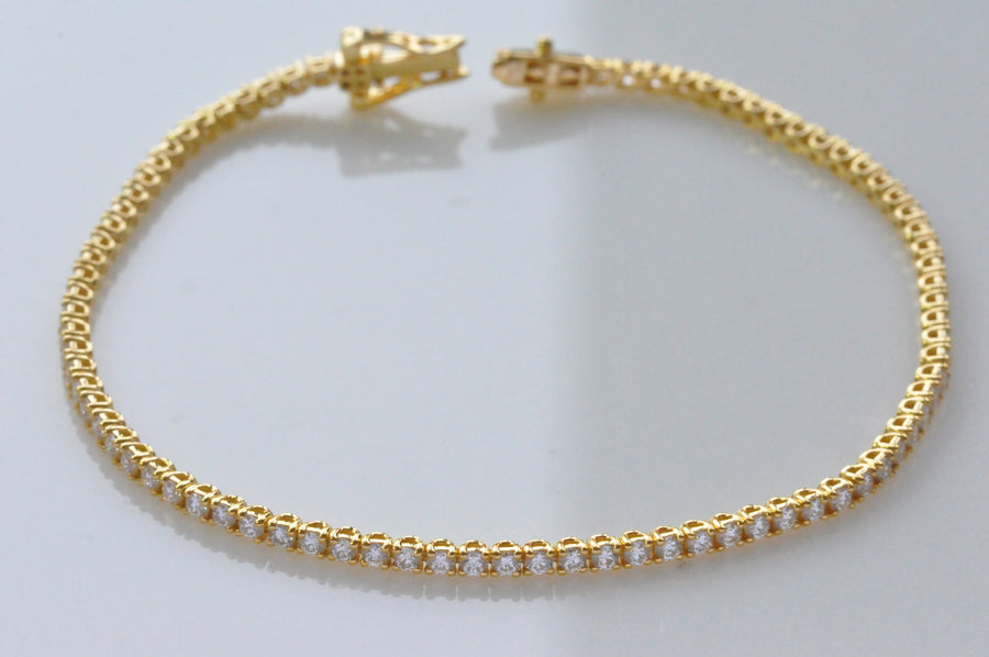 18K tennis bracelet yellow gold