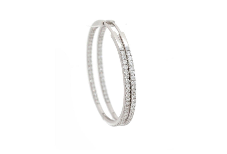 18K big hoops white gold