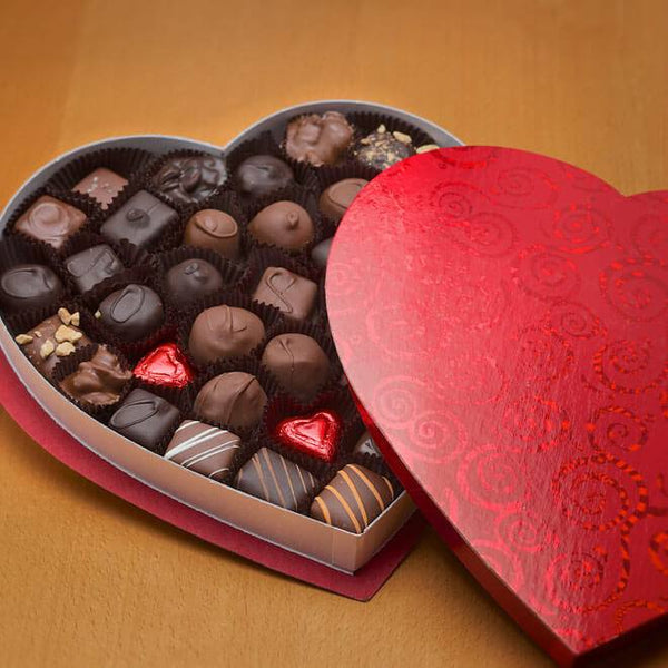 Classic heart shaped box with 1lbs of assorted favorites