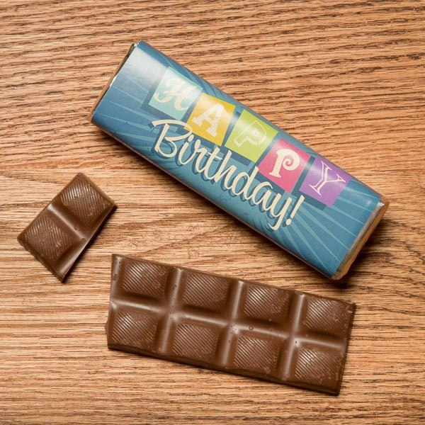 Happy Birthday Chocolate Bar from Fowler Chocolates Fowlers