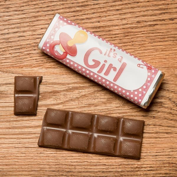 "Buffalo's Best ""It's a Girl"" Chocolate Candy Bars by Fowler's Chocolates"