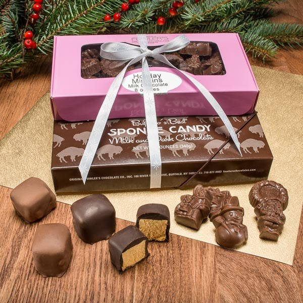 Buffalo's Best Holiday Sponge Candy Gift Set by Fowler's Chocolates