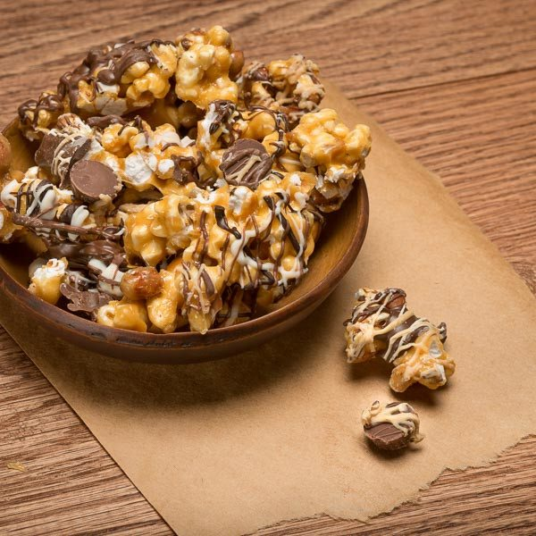 Buffalo's Best Peanut Butter Cup Caramel Corn with Peanuts [NEW] by Fowler's Chocolates