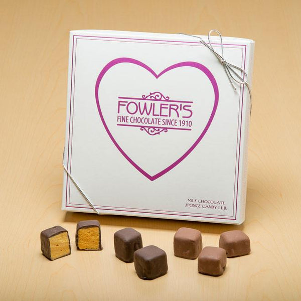 Our Valentine sponge candy is the perfect gift this year