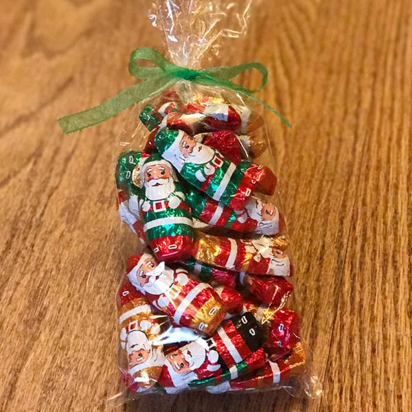Buffalo's Best Foiled Santas by Fowler's Chocolates