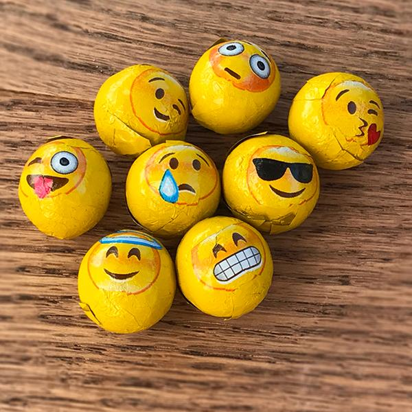 Buffalo's Best Foiled Emoji Balls by Fowler's Chocolates