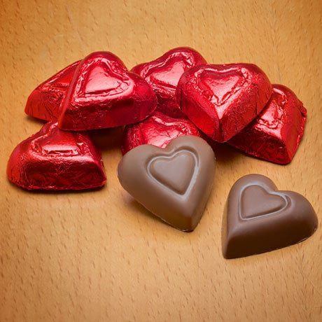 Buffalo's Best Foiled Chocolate Hearts by Fowler's Chocolates
