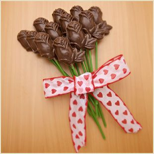 Buffalo's Best Long-Stemmed Solid Chocolate Roses - One Dozen by Fowler's Chocolates