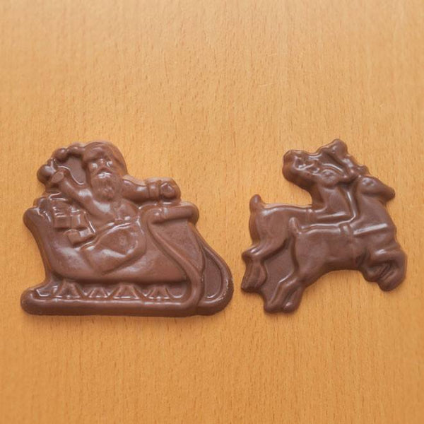 Buffalo's Best Chocolate Santa and Reindeer by Fowler's Chocolates