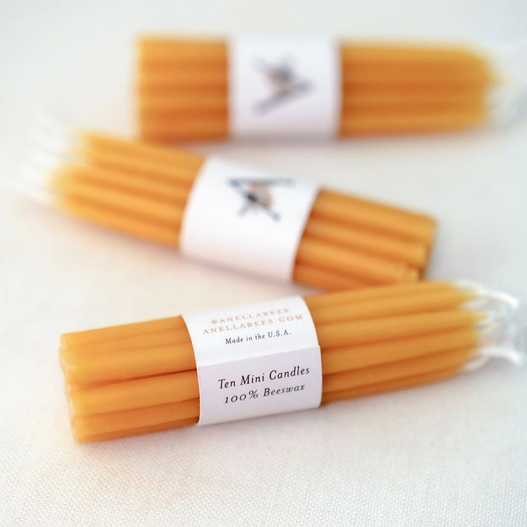 100% Pure Beeswax Birthday Candles