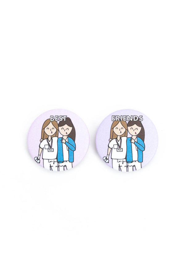 "Pack 2 chapas ""BEST FRIENDS"""