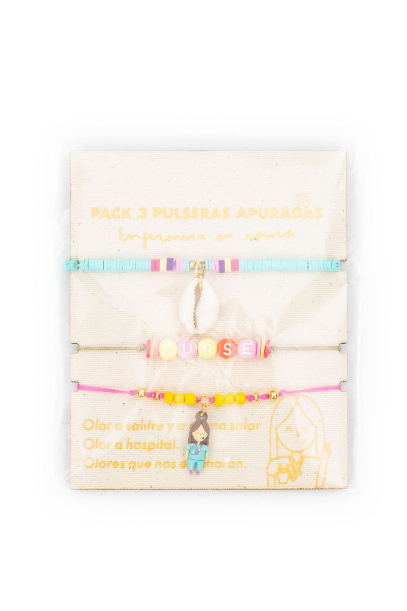 PACK PULSERAS HAPPY VIBES