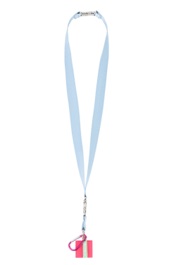 Lanyard satinado - Soft blue