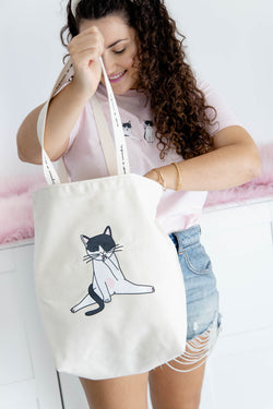 TOTE BAG LAMETONES DE AMOR COOL COCO 🐈💖