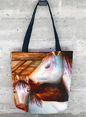Gimmee Sugar Tote Bag with Beautiful Suzy the Horse and Her Colt