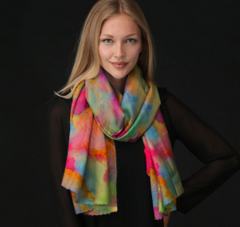 Roses on Teal Modal Scarf - Limited Edition