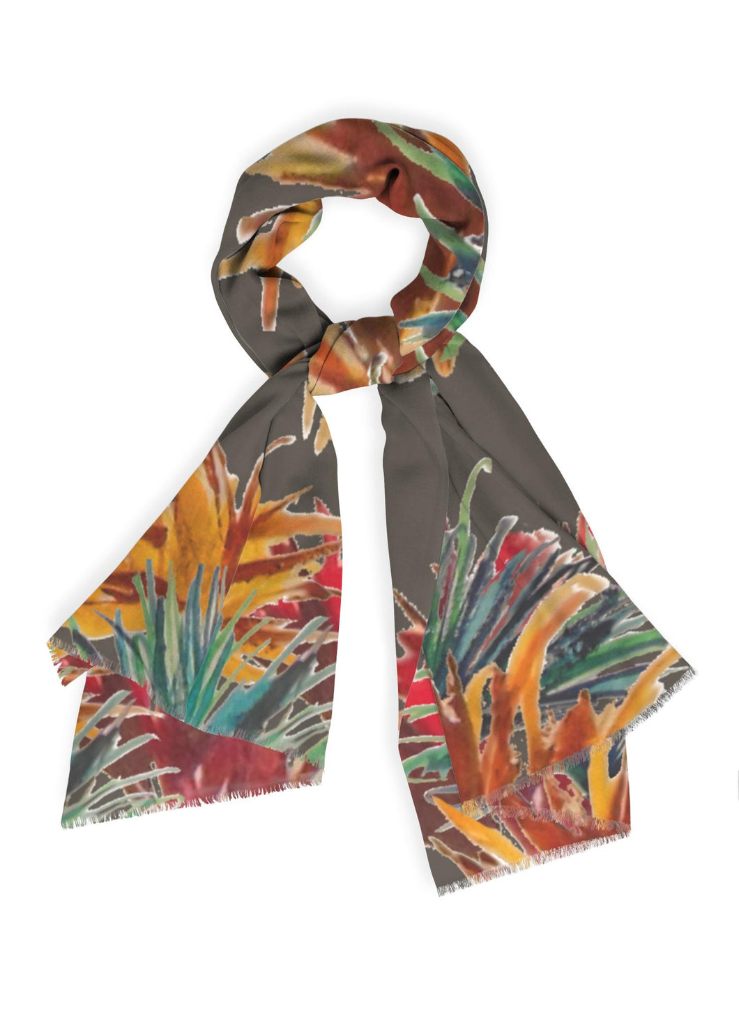 Grasses Long Scarf - cashmere/silk blend - 18 of 25 Left