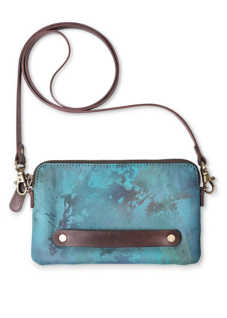 Blue Dreams Cotton Clutch - Only 1 Left