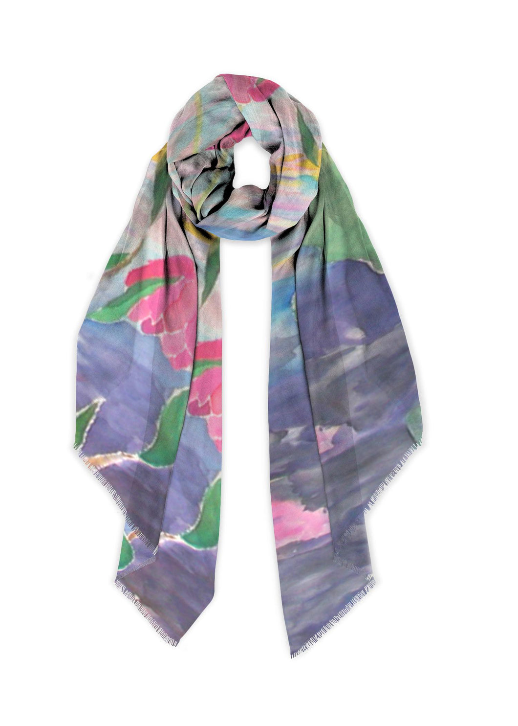 Lotus at Dawn Long Scarf - Modal - Only 3 Left