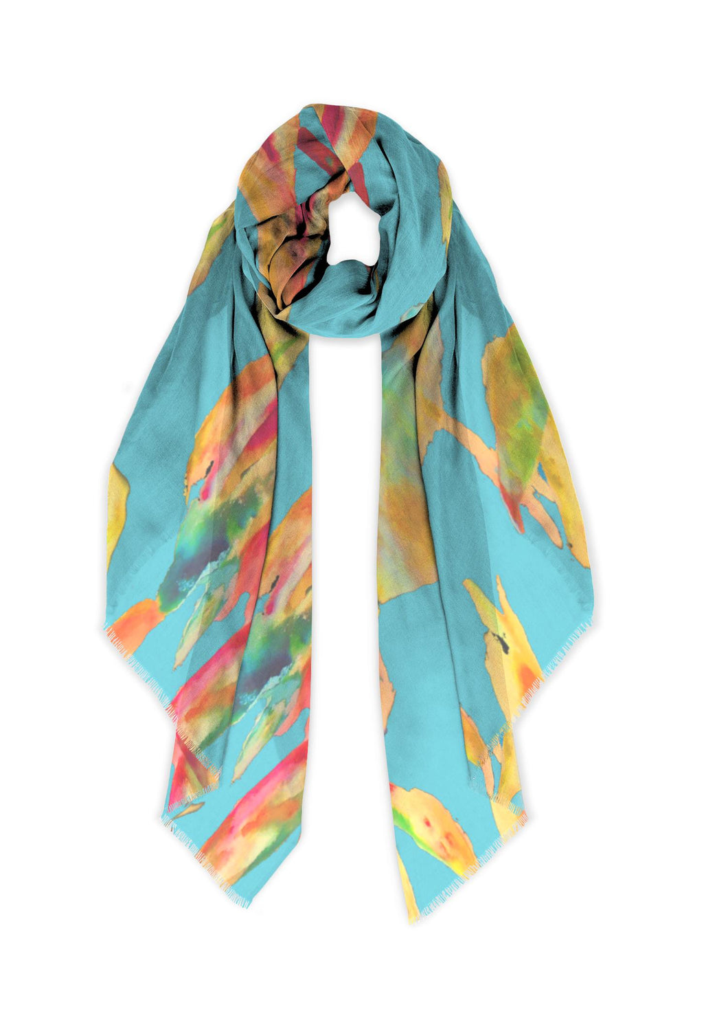Bamboo at Noon Long Scarf - Modal - 45 of 75 Left