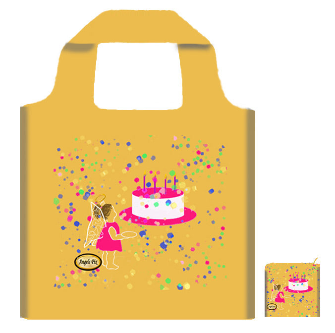 Angel's Birthday Cake Foldaway Tote