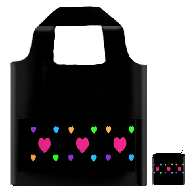 Hearts! Foldaway Tote - Only 4 Left