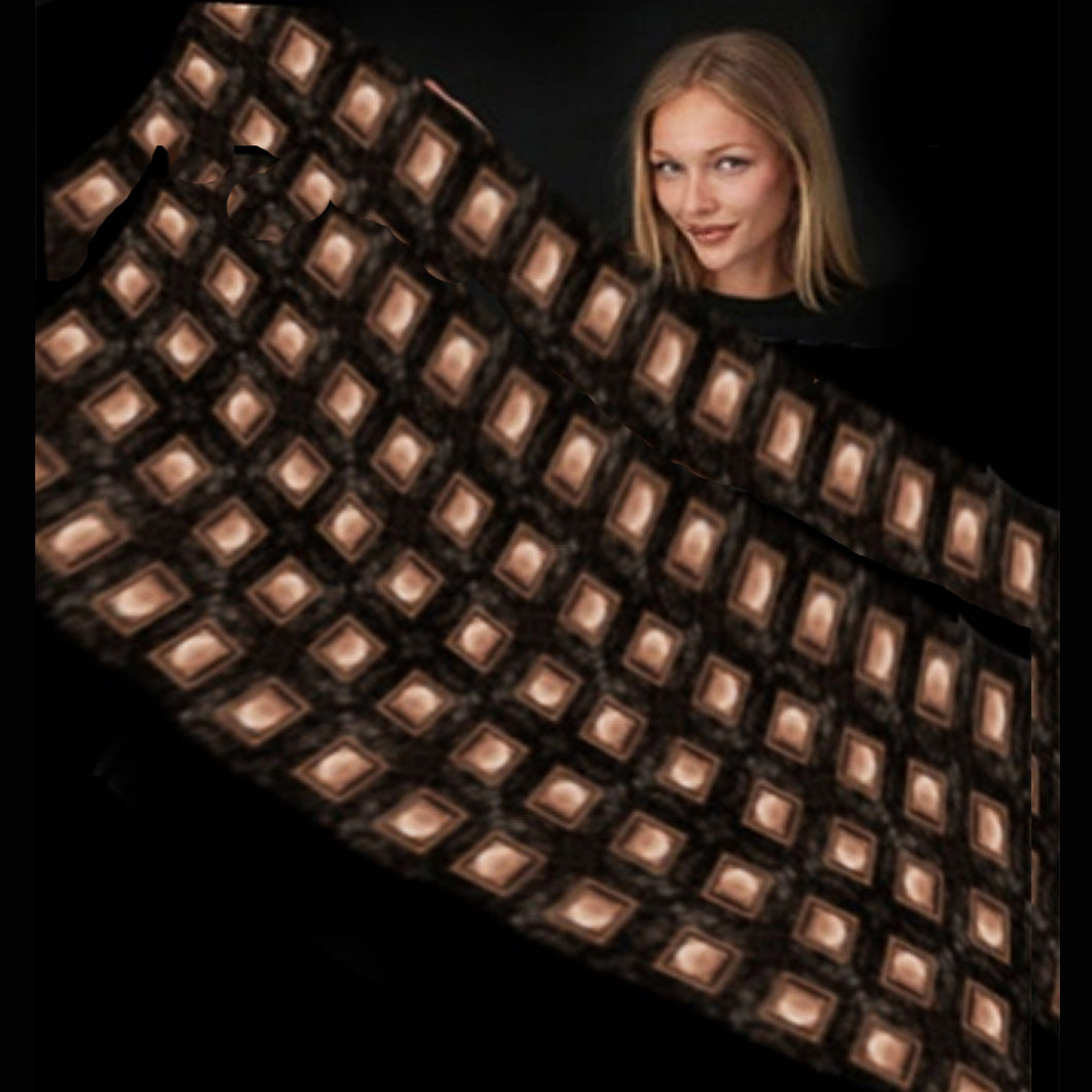 Copper Squares Long Scarf - Modal - Only 1 Left
