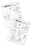 Winter Bucket List Coloring Page Mockup