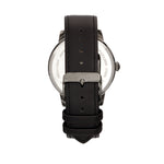 Elevon Gauge Leather-Band Watch - Gunmetal/Black - ELE122-4