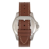 Elevon Aviator Leather-Band Watch w/Date - Brown/Green - ELE120-12