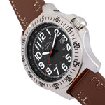 Elevon Aviator Leather-Band Watch w/Date - Brown/Black - ELE120-10