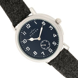 Elevon Northrop Wool-Overlaid Leather-Band Watch - Charcoal/Navy - ELE110-6
