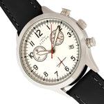 Elevon Antoine Chronograph Leather-Band Watch w/Date - Black/Silver - ELE113-1