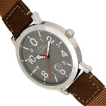 Elevon Mach 5 Canvas-Band Watch w/Date - Beige - ELE123-3