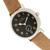 Elevon Northrop Wool-Overlaid Leather-Band Watch - Tan/Black - ELE110-4