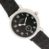 Elevon Northrop Wool-Overlaid Leather-Band Watch - Charcoal/Black - ELE110-2