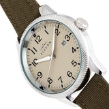 Elevon Bandit Leather-Band Watch w/Date - Olive/Tan - ELE118-5