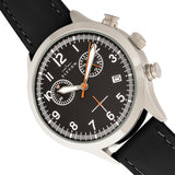 Elevon Antoine Chronograph Leather-Band Watch w/Date - Black - ELE113-4