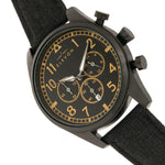 Elevon Curtiss Chronograph Nylon-Overlaid Leather-Band Watch - Black - ELE104-6