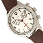 Elevon Antoine Chronograph Leather-Band Watch w/Date - Brown/Silver - ELE113-2
