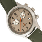 Elevon Antoine Chronograph Leather-Band Watch w/Date - Olive/Pewter - ELE113-3